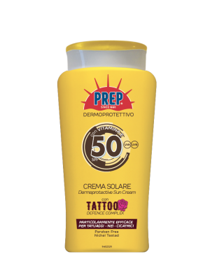 Prep derma-protective sun cream for Tattoos SPF 50+