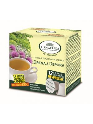 L'Angelica- Draining&Detox  Herbal Tea (Nespresso system comp.)