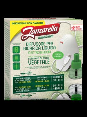 Zanzarella Elettroemanatore USB Set Liquido Verde + Ricarica
