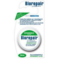Biorepair - waxed nylon dental floss 50 mt