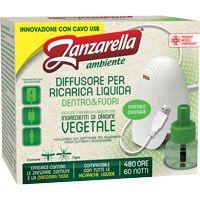Zanzarella Ambiente - Elettroemanatore USB Set Liquido Verde + Ricarica