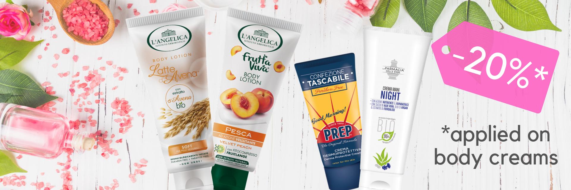 promo body creams