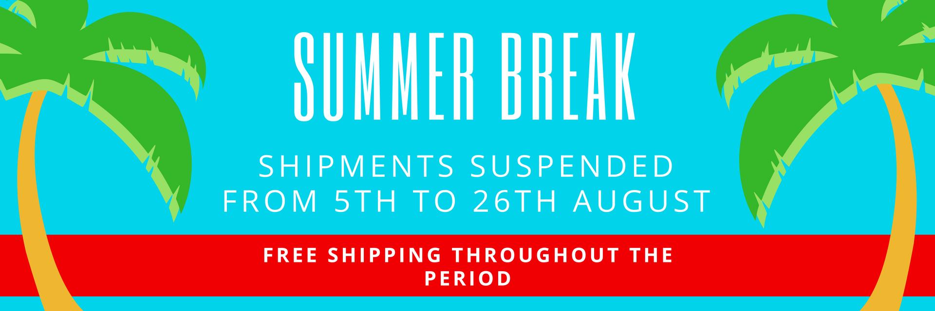 free shipping summer break